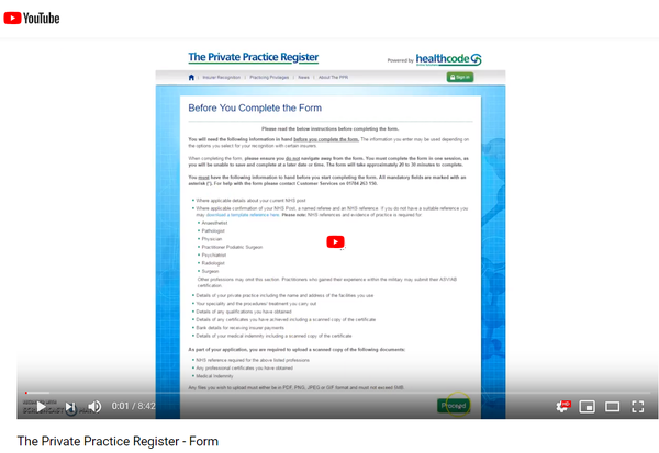 PPR Register Youtube Image